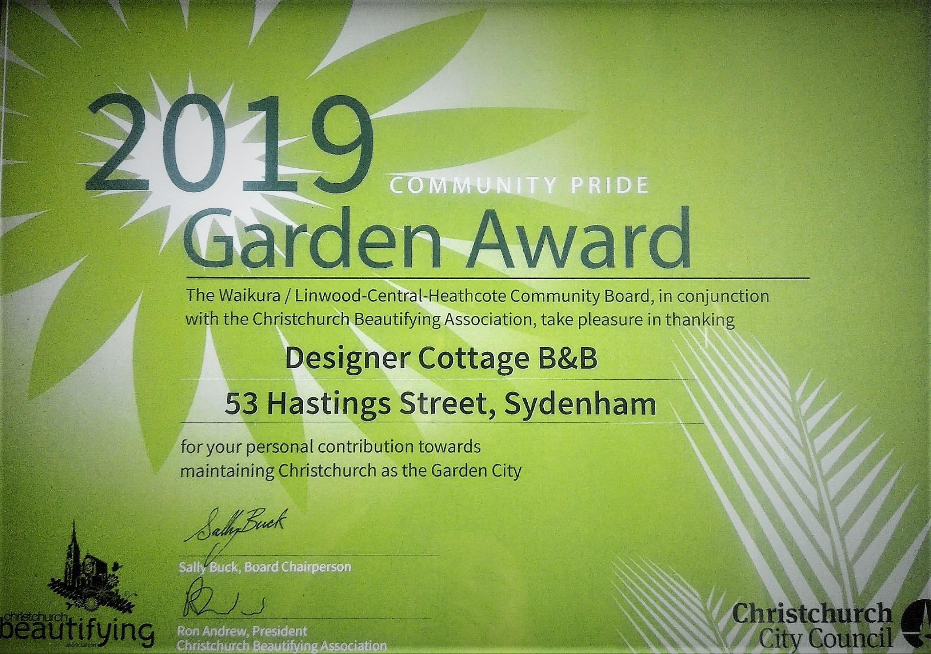 Christchurch B&B 2019 Garden Awards (4)